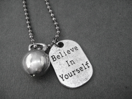 Believe in yourself kettle bell workout necklace pewter dog tag home workout believe in yourself kettle bell workout necklace pewter dog tag style charm and pewter kettle bell charm priced with stainless steel ball solutioingenieria Image collections
