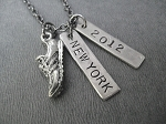 CELEBRATE YOUR RACE - Choose your Race and Race Date Nickel Silver and Pewter pendants on Gunmetal Chain