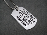 CUSTOM DOG TAG Hand Stamped Lightweight Aluminum Dog Tag on Stainless Steel Chain - Choose your words or phrase
