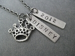 Pewter DISNEY PRINCESS Necklace - Pewter and Nickel pendants priced with Gunmetal chain