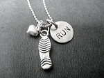 Sterling Silver LOVE TO RUN - Choose your race distance - Either RUN, 5K, 10K, 13.1 or 26.2 - Sterling silver pendants with on Sterling Silver ball chain