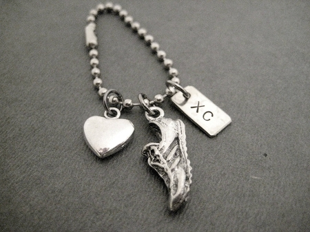 Pewter Running Shoe Charms