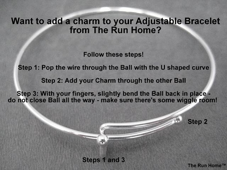 how to add charms to expandable bracelet