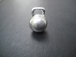 Pewter KETTLE BELL 3 dimensional Charm only - 1/2 inch across