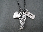 LOVE TO RUN XC  - Pewter and Nickel pendants priced with 18 inch gunmetal chain