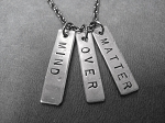 MIND OVER MATTER - Nickel pendants with Gunmetal chain