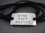 MIND OVER MATTER WRAP BRACELET - Nickel silver pendant with 36 inch micro fiber suede lace wrap - Choose Your Color!