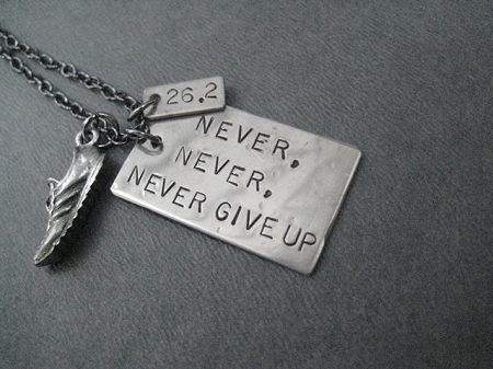 Never never never give up necklace nickel pendant priced with never never never give up necklace nickel pendant priced with gunmetal chain aloadofball Images