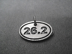 26.2 Pewter Oval Charm only - Add a Charm to your Purchase