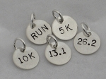 Sterling Silver ROUND 7/16 inch CHARM - Choose your Distance