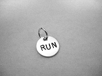 RUN Sterling Silver ROUND 7/16 inch CHARM