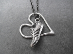 RUN with HEART - Pewter pendants priced with Gunmetal chain