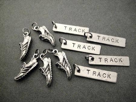 Track Shoe Charm