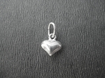 Sterling Silver PUFFED HEART CHARM - 1/4 inch