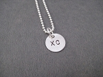 STERLING SILVER RUN XC - Sterling Silver Charms on Sterling Silver or Leather and Sterling Chain