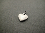 Pewter PUFFED HEART Charm only - 1/2 inch