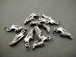 10 Pewter Running Shoe Charms