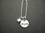 STERLING SILVER PUFFED HEART LOVE TO RUN DISTANCE - Choose either RUN or 5K, 10K, 13.1 or 26.2 - Sterling Silver pendants on Sterling Silver or Leather and Sterling Chain