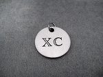 XC Round Pewter Pendant Charm - The Run Home's XC Pewter Pendant available only at The Run Home - 3/4 inch Round