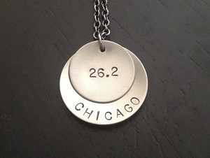 CELEBRATE YOUR RACE - Wearable Race Medal - Your Race Name - Your Race Distance Nickel Silver pendants priced with gunmetal chain