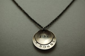 I AM A RUNNER Necklace - Nickel Silver pendants priced with Gunmetal chain