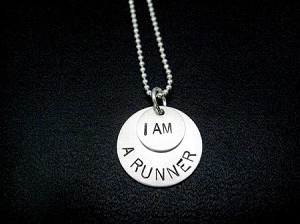 STERLING SILVER I AM A RUNNER - Sterling Silver pendants on Sterling Silver or Leather and Sterling Chain