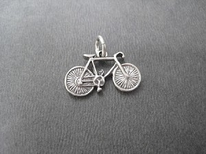 Sterling Silver BIKE CHARM Charm - 19mm x 10mm