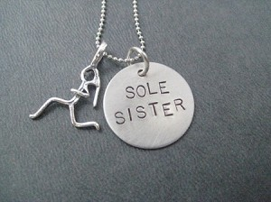Sterling Silver SOLE SISTER Necklace - Sterling silver pendants on Sterling Silver or Leather and Sterling Chain