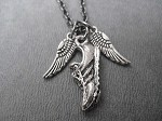 I RUN with WINGS on the SOLES of my SHOES - Pewter pendants priced with Gunmetal chain