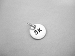 5K Sterling Silver ROUND 7/16 inch CHARM
