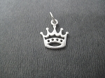 Sterling Silver CROWN CHARM - 12 x 11 mm