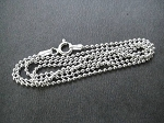 ONE (1) Sterling Silver Ball Chain with Spring Ring Clasp - 1.5 mm Sterling Silver Ball Chain
